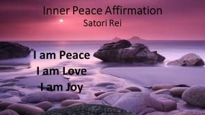 Satori Rei Inner Peace affirmation